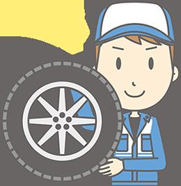 タイヤを点検する業者